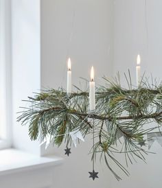 Decorate for a Natural Swedish Christmas - Chalk & Moss - - Swedish Christmas savours natural smells, soft materials, mood lighting and lots of greenery. Bring nature into your home with these Swedish decor tips!
