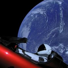 There is now a tesla roadster in space