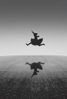 """two-color: """" Leap of Awesome… (by Noura Abdulraheem) """" Black White Photos, Black And White Photography, Shadow Silhouette, Shadow Play, Photo B, Light And Shadow, Belle Photo, Monochrome, Cool Photos"""