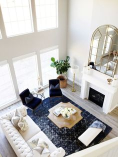 Living Room Tour On Twopeasandtheirpod  Living With Leather Extraordinary Interior Design Living Room Layout Inspiration Design