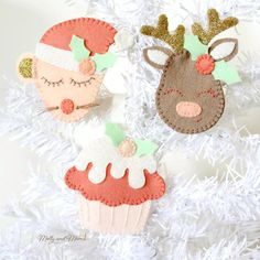 A Few Of My Favourite Christmas Things! - Molly and Mama Christmas Angel Ornaments, Felt Christmas Decorations, Felt Ornaments, Christmas Themes, Christmas Stockings, Christmas Pudding, Christmas Sewing, Christmas Projects, Handmade Christmas