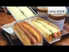 Hot Dogs Covered In Raclette - YouTube