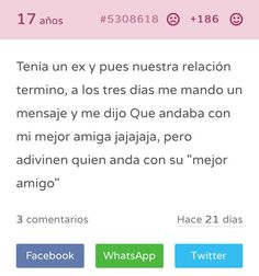 Read Mejores Amigos from the story Tu Secreto Fails by socialxliz (sassy) with reads. Kid Memes, Book Memes, Funny Spanish Memes, Funny Images, True Stories, Confessions, Texts, Haha, Laughter