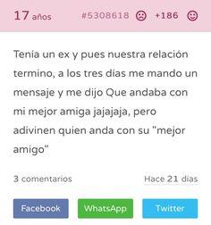 Read Mejores Amigos from the story Tu Secreto Fails by socialxliz (sassy) with reads. Memes Estúpidos, Kid Memes, Book Memes, Jokes, Funny Spanish Memes, Crush Memes, Funny Images, Confessions, The Secret