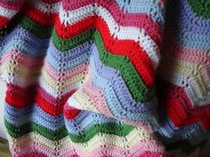 Nice ripple blanket inspired by Mia and her Cath Kidston coloured ripple.