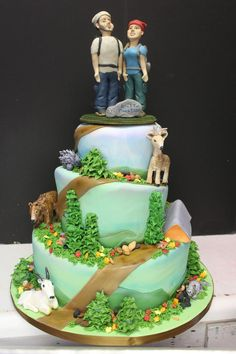 mountain theme Cake | gallery unique cakes gallery wedding cakes
