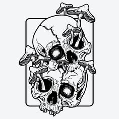 Goth Tattoo, Grunge Tattoo, Skull Tattoos, Cute Tattoos, Body Art Tattoos, Skeleton Tattoos, Sleeve Tattoos, Mushroom Tattoos, Spooky Tattoos