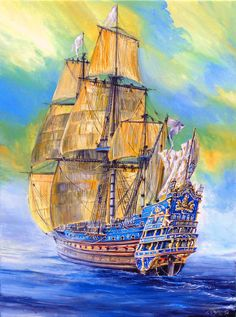 10 best images about ships and naval battles on Model Sailing Ships, Old Sailing Ships, Model Ships, Legend Of The Seas, Sailboat Art, Sea Crafts, Ship Paintings, Wooden Ship, Navy Ships
