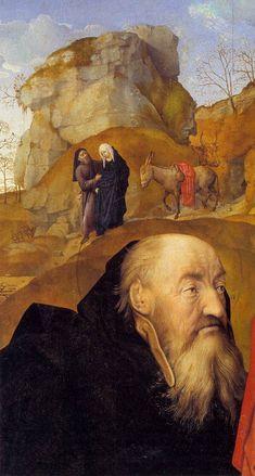 Hugo van der Goes, Portinari Triptych, Sts Anthony and Thomas with Tommaso Portinari (detail) 1476-79 Oil on wood, 253 x 141 cm Galleria degli Uffizi, Florence