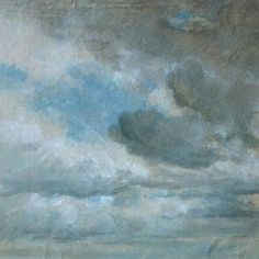 'Study of Clouds' by John Constable, 1822, Museum no. 590-1888