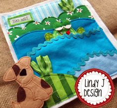 another CUTE quiet book featuring Max, a little dog looking for the perfect home. Fun interaction for the littles. PDF pattern by LindyJ Design at ETSY