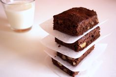 Olive Oil Brownies. 1/4 cup olive oil 1/4 cup lowfat Greek yogurt 3/4 cup sugar 1teaspoonvanilla extract 2eggs 1/2cup flour 1/3cup cocoa powder (you can add 1-2 tablespoons more) 1/4teaspoonbaking powder 1/4teaspoonsalt 1/3 cupchopped walnuts