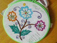 Hand Embroidery Designs # 116 - Cretan stitch Design