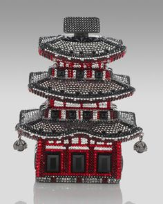 Judith Leiber Kyoto Pagoda Clutch  The finest Austrian crystals stunningly capture the iconic Kyoto pagoda.