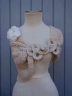 READY TO SHIP   new item bridal wedding bolero  off by deniz03
