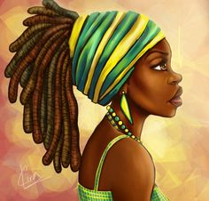 Green Yellow Wrap Art Print by Kira The Artist - X-Small Black Girl Art, Black Women Art, Black Girls Rock, Black Girl Magic, Art Girl, Style Afro, Afrique Art, African Art Paintings, Foto Poster
