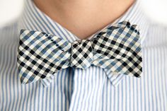Bow tie and shirt with different textures create wows and humms and inspire the urban dandy