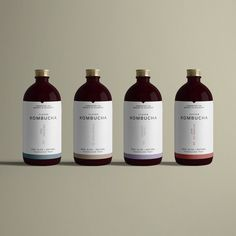 Brand and labels for Clever Kombucha. The concept explores the complex and symbiotic interaction that occurs during the kombucha fermentation process, by using mindful typography and iconography drawn from microscopic images of the fermentation process.