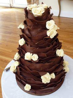 Wedding Cakes Chocolate Ruffle Wedding Cake