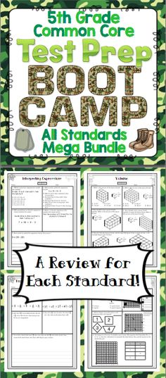 Math Test Prep (Boot Camp Theme) Grade, EDUCATİON, Math Test Prep: Grade (Boot Camp Theme) - Help your students get ready for testing with this boot camp themed pack! It is aligned to the grade. 4th Grade Math Test, Fifth Grade Math, 3rd Grade Classroom, 3rd Grade Reading, Math Classroom, Fourth Grade, Future Classroom, Classroom Decor, Math Assessment