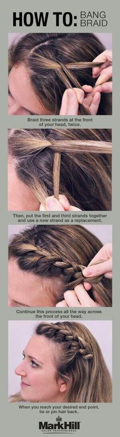 How to: braid your bangs