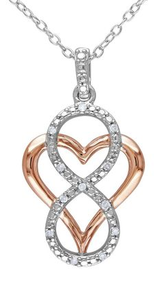Infinity Love Heart Necklace ♡
