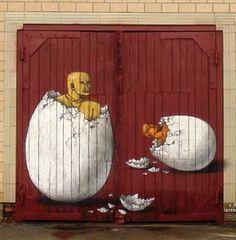 Interesni Kazki, Velikonoce, Ukrajina - unurth | pouliční umění