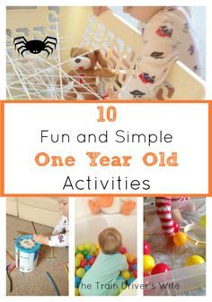 10 Fun and Simple One Year Old Activities