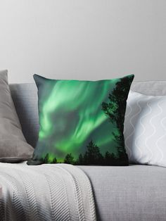 Millions of unique designs by independent artists. Find your thing. Designer Throw Pillows, Pillow Design, Sell Your Art, Northern Lights, Artists, Unique, Interior, Indoor, Nordic Lights