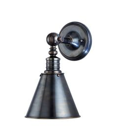 Hudson Valley Lighting 9901 Single Light Down Lighting Wall Sconce with Cone Sha Distressed Bronze Indoor Lighting Wall Sconces Down Lighting