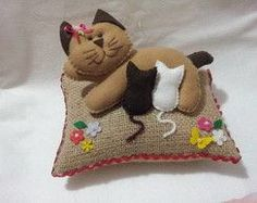 Peso de Porta gatinha com filhotes