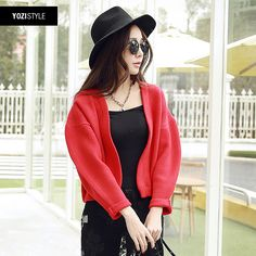 2015 new spring women loose cardigan sweater thick solid female A101G USD$35.67