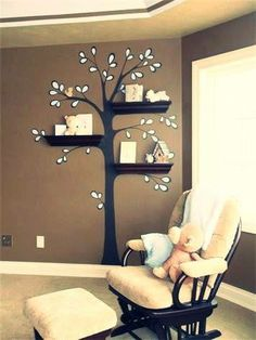 Prateleiras + adesivo de parede