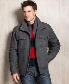 Michael Michael Kors Milos Wool-Blend Knit-Bib Car Coat | CUEVA DE
