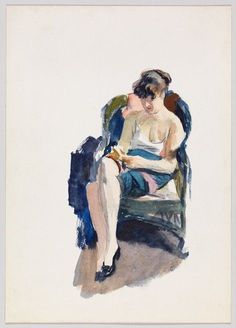 Edward Hopper, Jo Seated, 1935: