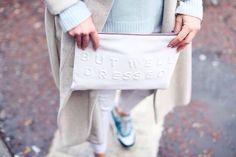 Stressed But Well dressed. Zara clutch 2014
