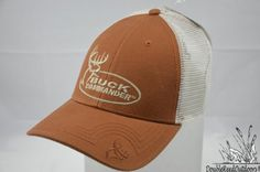 Buck Commander ~ Brown Mesh ~ Hunting Hat Cap. One size fits most. Brown cap with Buck Commander logo on the front. Velcro Strap Closure.