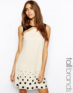 Image 1 ofLittle Mistress Tall Embellished Hem Tunic Dress