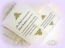 51155dd46194 Handmade vecičky na bývanie Svadba oznámenie. Papiernictvo - Svadobné  oznámenie