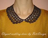 Crochet Collar. Hand made. Collar Necklace Peter Pan.