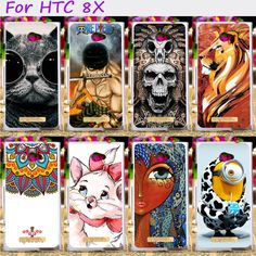 Hard Plastic Cool Skull Cute Minions Flower Phone Cases For HTC 8X C620E C620D 4.3 inch Phone Cover Phone Shell Accessories #Affiliate