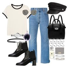 """""""The future looks good"""" by marissa-91 ❤ liked on Polyvore featuring RE/DONE, Monki, See by Chloé, H&M, Mulberry, Le Specs, FOSSIL, Yves Saint Laurent, Fendi and ASOS"""
