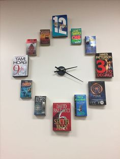 Book clock soooooo cool>>> as long as you don't hurt the books Book Clock, Book Art, Book Crafts, Diy Crafts, Book Nooks, Classroom Decor, Fathers Day Gifts, Bookshelves, Projects To Try