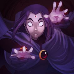 Teen Titans Raven (love this show!!) I like Raven in this style!