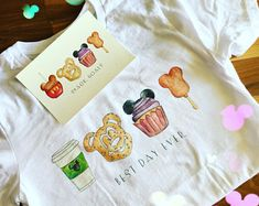 Tshirt Walt Disney World Disney Treats Mickey Ears Disney Disney Snacks, Disney Food, Disney Art, Cute Disney Outfits, Disneyland Outfits, Disney Clothes, Disney Themed Outfits, Emo Outfits, Inspired Outfits