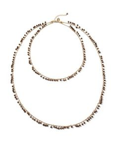 White House | Black Market Convertible Chocolate Bead High-Low Necklace #whbm