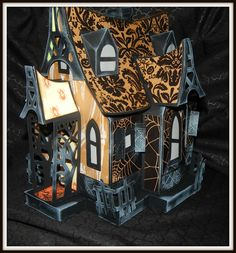 Bewitched cabin Halloween 2015, Halloween House, Halloween Cards, Holidays Halloween, Happy Halloween, Halloween Ideas, Putz Houses, Gingerbread Houses, Haunted Forest