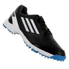 Adidas 2014 Junior Adizero Golf Shoes Kids Golf Shoes, Crazy Golf, Golf Clubs, Black Shoes, Solar, Adidas Sneakers, Running, Blue, Stuff To Buy