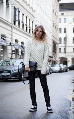 chunky knit. Mija in Copenhagen.