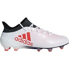 2121b0a868c4 Adidas Men s X 17.1 FG Soccer Shoes (White Red
